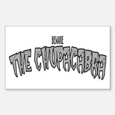 The Chupacabra Rectangle Decal