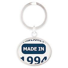 19th year birthday designs Oval Keychain