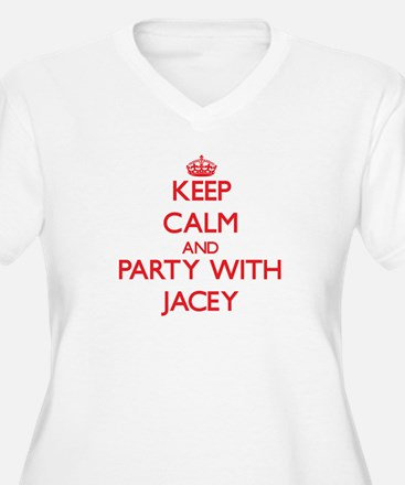 Keep Calm and Party with Jacey Plus Size T-Shirt