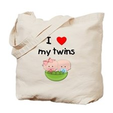 I love my twins (3) Tote Bag