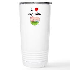 I love my twins (3) Travel Mug