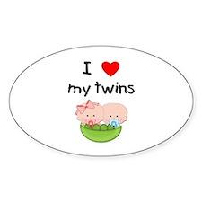 I love my twins (3) Decal