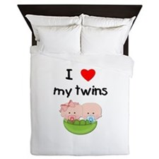 I love my twins (3) Queen Duvet