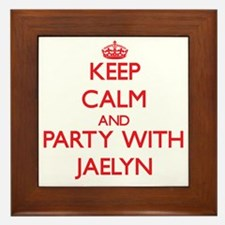Keep Calm and Party with Jaelyn Framed Tile