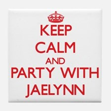 Keep Calm and Party with Jaelynn Tile Coaster