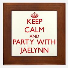 Keep Calm and Party with Jaelynn Framed Tile