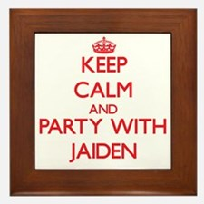 Keep Calm and Party with Jaiden Framed Tile