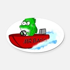 Mr Bass Oval Car Magnet