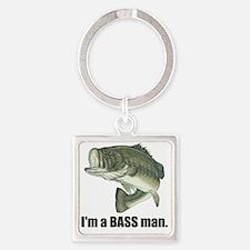 bass man Square Keychain
