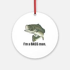 bass man Round Ornament