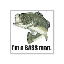 "bass man Square Sticker 3"" x 3"""