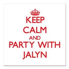 Keep Calm and Party with Jalyn Square Car Magnet 3