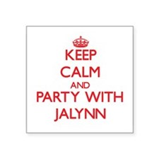 Keep Calm and Party with Jalynn Sticker