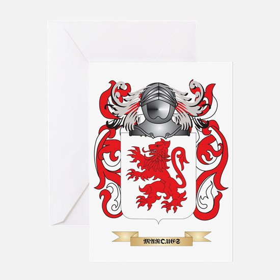 Marques Coat of Arms - Family Crest Greeting Card