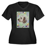 Clumber Spaniel Women's Plus Size V-Neck Dark T-Sh