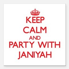 Keep Calm and Party with Janiyah Square Car Magnet