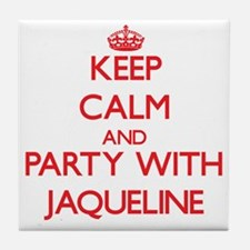 Keep Calm and Party with Jaqueline Tile Coaster
