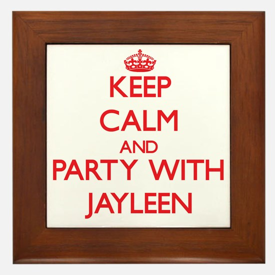 Keep Calm and Party with Jayleen Framed Tile