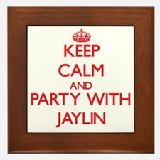 Keep Calm and Party with Jaylin Framed Tile