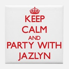 Keep Calm and Party with Jazlyn Tile Coaster