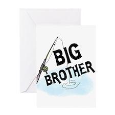 Fishing Big Brother Greeting Cards