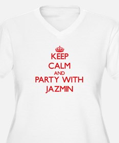 Keep Calm and Party with Jazmin Plus Size T-Shirt