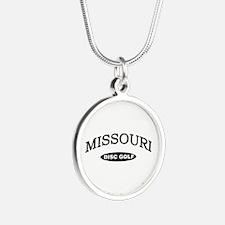 Missouri Disc Golf Silver Round Necklace