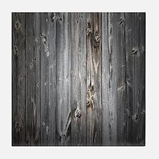 Gray Wood Plank Tile Coaster