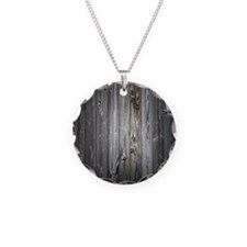Gray Wood Plank Necklace