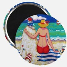Nautical Beach Seashore Sandman Shower Curt Magnet