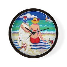 Nautical Beach Seashore Sandman Shower  Wall Clock