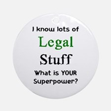 legal stuff Ornament (Round)