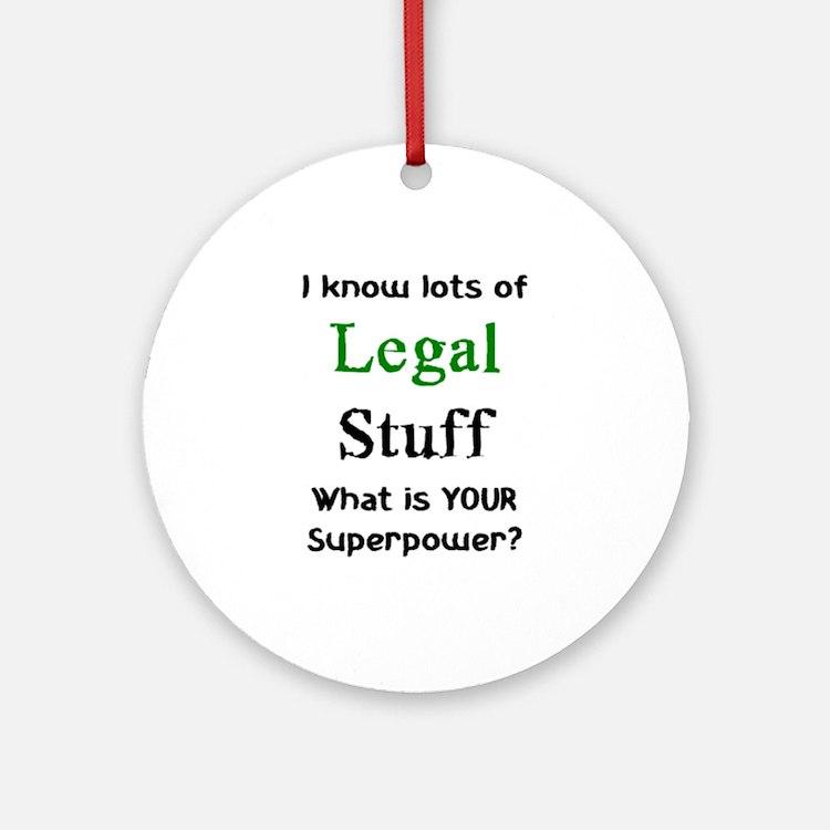 legal stuff Ornament (Round)