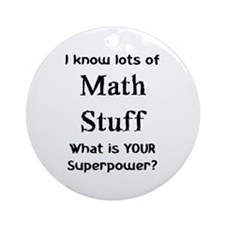 math stuff Ornament (Round)