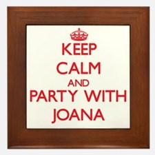 Keep Calm and Party with Joana Framed Tile