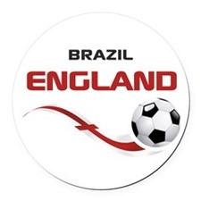Soccer 2014 ENGLAND 1 Round Car Magnet