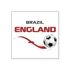 """Soccer 2014 ENGLAND 1 Square Sticker 3"""" x 3"""""""