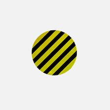 Hazard Tape Mini Button (10 pack)