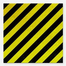 "Hazard Tape Square Car Magnet 3"" x 3"""