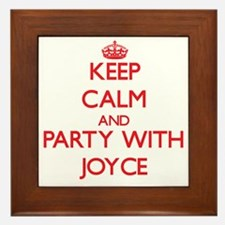 Keep Calm and Party with Joyce Framed Tile