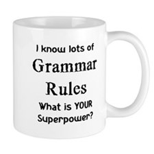 grammar rules Small Mugs