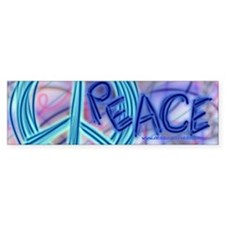 Peace Bumper Car Sticker