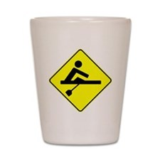 Rower Crossing Shot Glass
