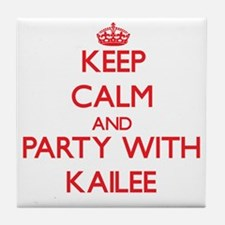 Keep Calm and Party with Kailee Tile Coaster
