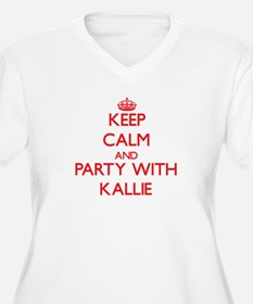 Keep Calm and Party with Kallie Plus Size T-Shirt
