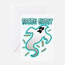 Bacon Ghost Greeting Card