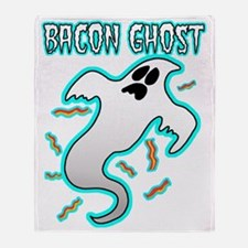 Bacon Ghost Throw Blanket