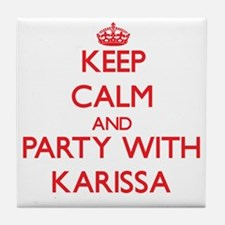 Keep Calm and Party with Karissa Tile Coaster