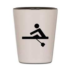 Rowing Crew Pictogram Shot Glass