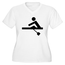 Rowing Crew Pictogram Plus Size T-Shirt